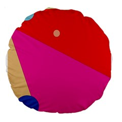 Colorful abstraction Large 18  Premium Round Cushions