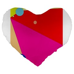 Colorful abstraction Large 19  Premium Heart Shape Cushions