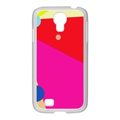 Colorful abstraction Samsung GALAXY S4 I9500/ I9505 Case (White)
