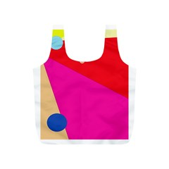 Colorful abstraction Full Print Recycle Bags (S)