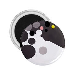 Gray, yellow and pink dots 2.25  Magnets