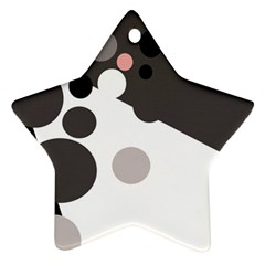 Gray, yellow and pink dots Ornament (Star)