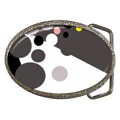 Gray, yellow and pink dots Belt Buckles