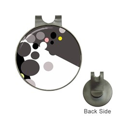 Gray, yellow and pink dots Hat Clips with Golf Markers