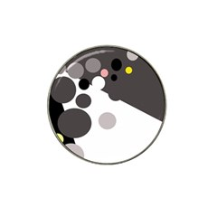Gray, yellow and pink dots Hat Clip Ball Marker