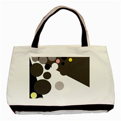 Gray, yellow and pink dots Basic Tote Bag