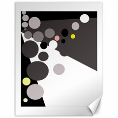 Gray, yellow and pink dots Canvas 18  x 24