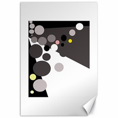 Gray, yellow and pink dots Canvas 20  x 30