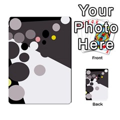 Gray, yellow and pink dots Multi-purpose Cards (Rectangle)