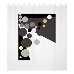 Gray, yellow and pink dots Shower Curtain 66  x 72  (Large)