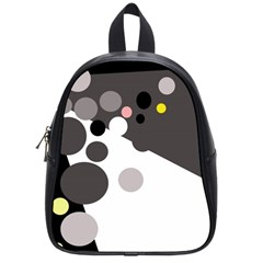 Gray, yellow and pink dots School Bags (Small)