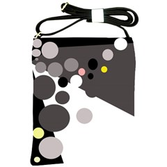 Gray, yellow and pink dots Shoulder Sling Bags