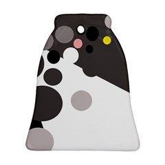 Gray, yellow and pink dots Bell Ornament (2 Sides)