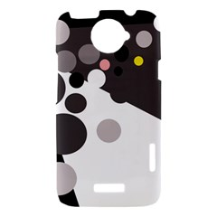 Gray, yellow and pink dots HTC One X Hardshell Case