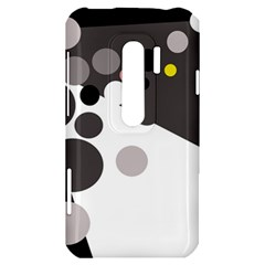 Gray, yellow and pink dots HTC Evo 3D Hardshell Case
