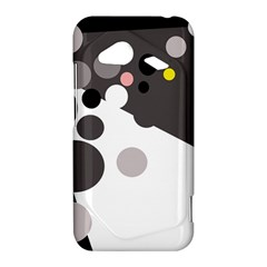 Gray, yellow and pink dots HTC Droid Incredible 4G LTE Hardshell Case