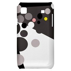 Gray, yellow and pink dots Samsung Galaxy S i9000 Hardshell Case