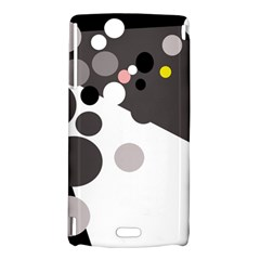 Gray, yellow and pink dots Sony Xperia Arc
