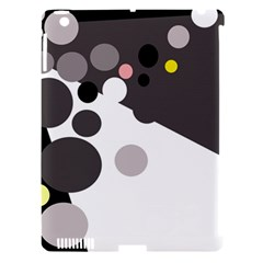 Gray, yellow and pink dots Apple iPad 3/4 Hardshell Case (Compatible with Smart Cover)