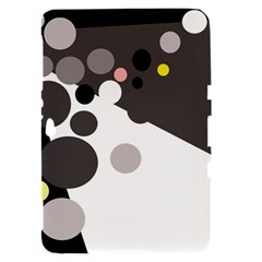 Gray, yellow and pink dots Samsung Galaxy Tab 8.9  P7300 Hardshell Case