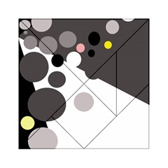 Gray, yellow and pink dots Acrylic Tangram Puzzle (6  x 6 )
