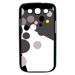 Gray, yellow and pink dots Samsung Galaxy S III Case (Black)
