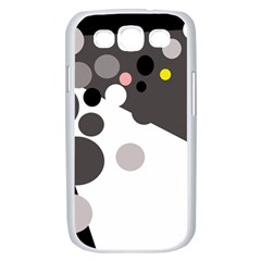 Gray, yellow and pink dots Samsung Galaxy S III Case (White)