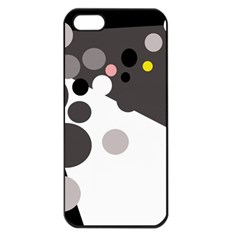 Gray, yellow and pink dots Apple iPhone 5 Seamless Case (Black)