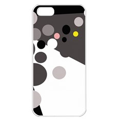 Gray, yellow and pink dots Apple iPhone 5 Seamless Case (White)
