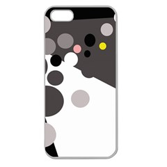 Gray, yellow and pink dots Apple Seamless iPhone 5 Case (Clear)