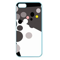 Gray, yellow and pink dots Apple Seamless iPhone 5 Case (Color)