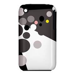 Gray, yellow and pink dots Apple iPhone 3G/3GS Hardshell Case (PC+Silicone)