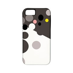 Gray, yellow and pink dots Apple iPhone 5 Classic Hardshell Case (PC+Silicone)