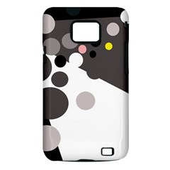 Gray, yellow and pink dots Samsung Galaxy S II i9100 Hardshell Case (PC+Silicone)