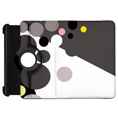 Gray, yellow and pink dots Kindle Fire HD Flip 360 Case