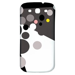 Gray, yellow and pink dots Samsung Galaxy S3 S III Classic Hardshell Back Case