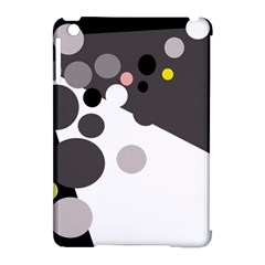 Gray, yellow and pink dots Apple iPad Mini Hardshell Case (Compatible with Smart Cover)