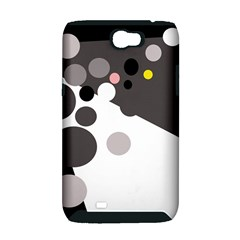 Gray, yellow and pink dots Samsung Galaxy Note 2 Hardshell Case (PC+Silicone)