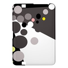 Gray, yellow and pink dots Kindle Fire HD 8.9