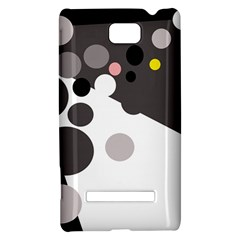 Gray, yellow and pink dots HTC 8S Hardshell Case