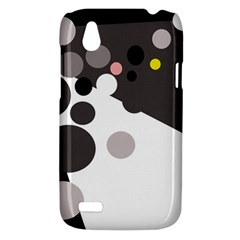 Gray, yellow and pink dots HTC Desire V (T328W) Hardshell Case