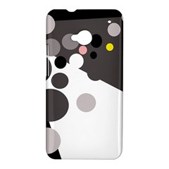 Gray, yellow and pink dots HTC One M7 Hardshell Case
