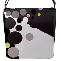 Gray, yellow and pink dots Flap Messenger Bag (S)