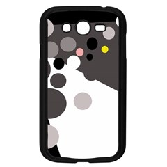 Gray, yellow and pink dots Samsung Galaxy Grand DUOS I9082 Case (Black)