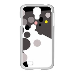 Gray, yellow and pink dots Samsung GALAXY S4 I9500/ I9505 Case (White)