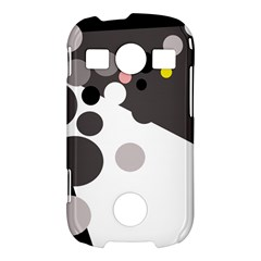 Gray, yellow and pink dots Samsung Galaxy S7710 Xcover 2 Hardshell Case