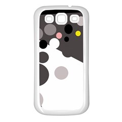 Gray, yellow and pink dots Samsung Galaxy S3 Back Case (White)