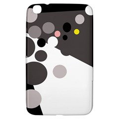 Gray, yellow and pink dots Samsung Galaxy Tab 3 (8 ) T3100 Hardshell Case