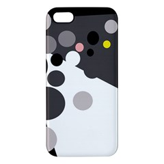 Gray, yellow and pink dots iPhone 5S/ SE Premium Hardshell Case