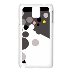 Gray, yellow and pink dots Samsung Galaxy Note 3 N9005 Case (White)